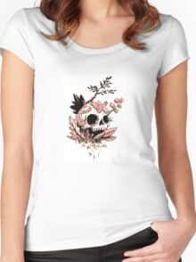 Skull Growth Women's Fitted Scoop T-Shirt