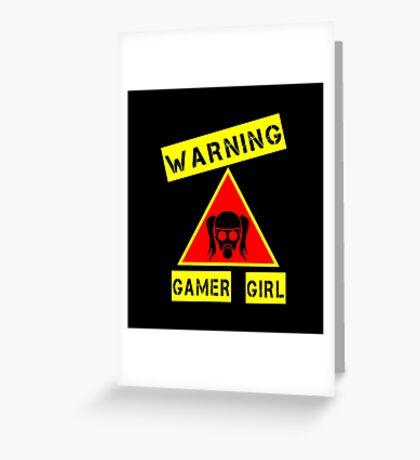 GAMER GIRL  Greeting Card
