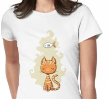 Ginger Cat Womens Fitted T-Shirt