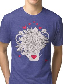 bouquet with love T-shirt Chiné