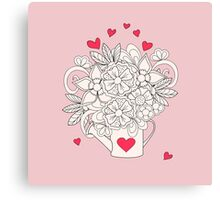 bouquet with love Canvas Print