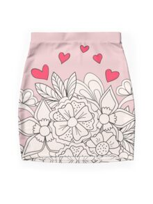 bouquet with love Mini Skirt