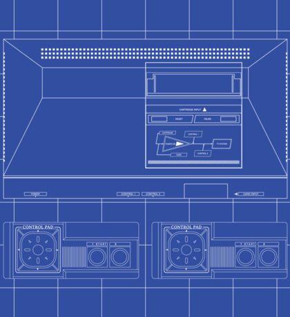 Master System outlines single (blue) Sticker