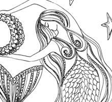 #Mermaid and Stars  Sticker