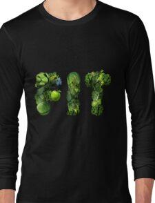 Vegetables Spelling Fit Long Sleeve T-Shirt