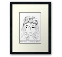 #Mermaid Crown Framed Print