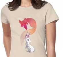 Rabbit and a Fox Womens Fitted T-Shirt
