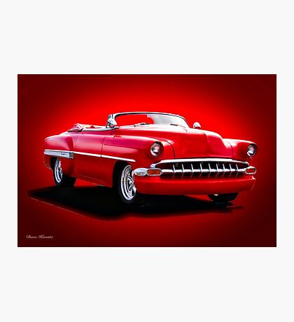 1954 Chevrolet Custom Bel Air Convertible Photographic Print