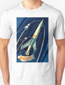 Soviet Propaganda Poster - Space Unisex T-Shirt