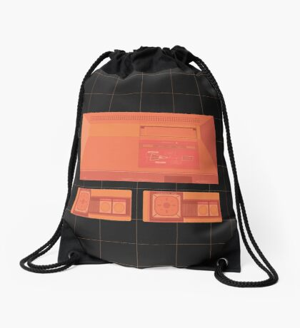 Master System neon single (black) Drawstring Bag