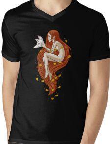 Kitsune Mens V-Neck T-Shirt
