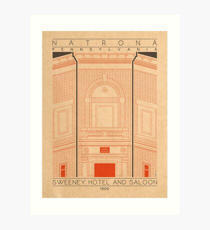 Sweeney Hotel and Saloon - 1900 (Orange) Art Print