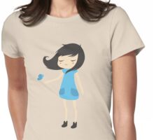 Girl and a Butterfly 2 Womens Fitted T-Shirt
