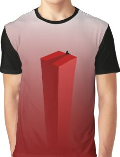 Reading a book at the edge Graphic T-Shirt