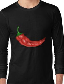 Red Chilli Pepper Long Sleeve T-Shirt
