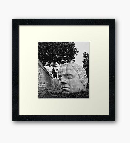 Head Sculpture - Cartagena Spain Framed Print