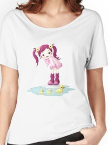 Puddle Ducks Women's Relaxed Fit T-Shirt