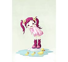 Puddle Ducks Photographic Print