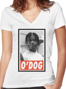 -MOVIES- ODog Menace II Society Women's Fitted V-Neck T-Shirt