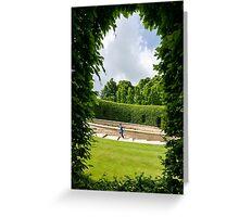 Running Through a Window Greeting Card