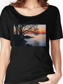 Just Before Sunrise - Bright Cold and Colorful on the Lakeshore Women's Relaxed Fit T-Shirt