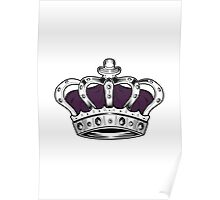 Crown - Purple Poster
