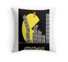 Attack Man Throw Pillow