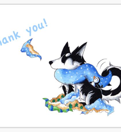 Wrapping Paper Pup (Thank You Card) Sticker