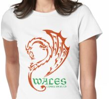 Wales  Cymru am Byth  (Wales Forever) Womens Fitted T-Shirt