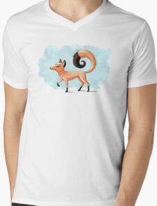 Proud Fox Mens V-Neck T-Shirt