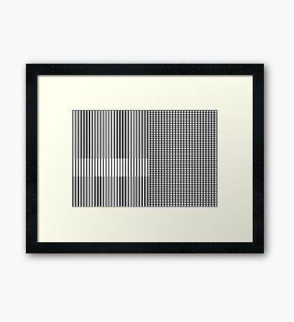 Stripe Blocks Framed Print