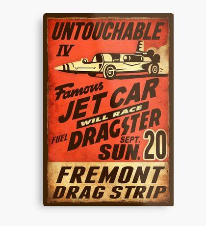 Jet Car Metal Print
