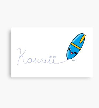 Kawaii Pen Canvas Print
