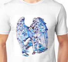 Sad Blue Guardian Angel Unisex T-Shirt