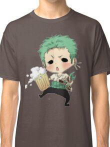 Small chibi Zoro drunk one piece Classic T-Shirt