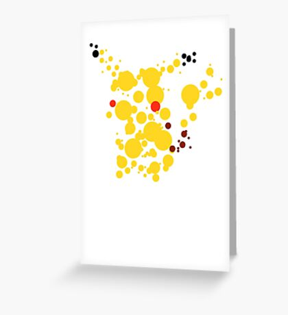 Pikachu Spots Greeting Card
