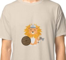Lion viking with helmet Classic T-Shirt