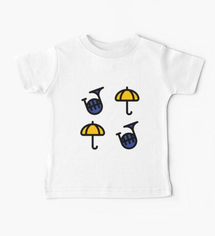 Blue French Horn/Yellow Umbrella - How I met your mother Baby Tee