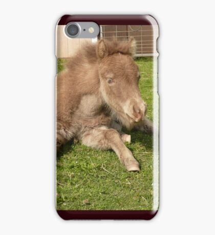 Naptime foal iPhone Case/Skin