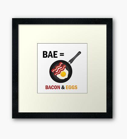 Bacon & Eggs Framed Print