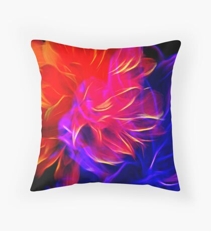 Double Bloomed Pop Art Throw Pillow