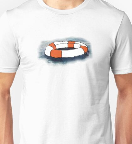 Empty Rubber Ring On Water Unisex T-Shirt