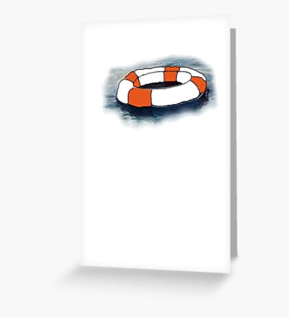Empty Rubber Ring On Water Greeting Card