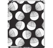 Black and white floral shapes pattern. iPad Case/Skin