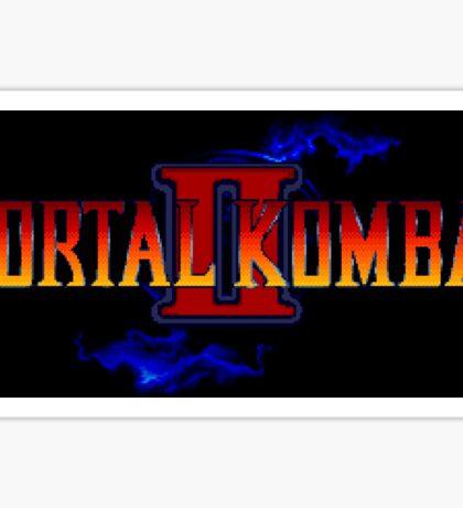 Mortal Kombat 2 (Genesis Title Screen) Sticker