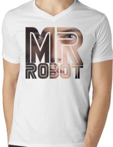 Mr Robot Rami Mens V-Neck T-Shirt