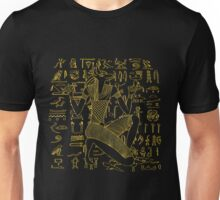 Egyptian Anubis & Hieroglyphics Unisex T-Shirt