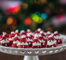 Christmas Strawberry Santas by Aaron Radford