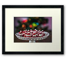 Christmas Strawberry Santas Framed Print