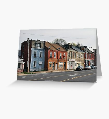 Broadway Streetscape Greeting Card